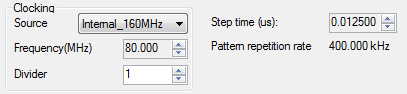 Figure 5 Pattern bits clock settings